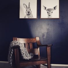 Our black and white Peekaboo Bunny Rabbit and Deer Fawn wall art prints hanging out with this beautiful chunky knit throw from Lane and Mae :) Sofa Workshop, Cozy Couch, Chunky Knit Throw, Trending Art, Knitted Throws, Merino Wool Blanket, Etsy, Wall Art Prints, Creative