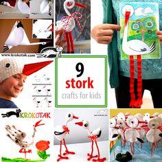 9 stork crafts for kids