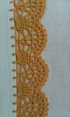 Crochet Boarders, Crochet Edging Patterns, Crochet Lace Edging, Crochet Trim, Love Crochet, Filet Crochet, Crochet Doilies, Crochet Flowers, Crochet Stitches
