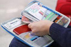 Borsello impermeabile porta documenti di viaggio - utilizzo