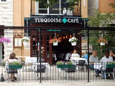 Turquoise Cafe, Roscoe Village, Chicago. Great Turkish food.
