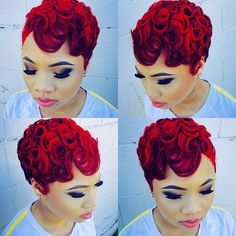Red hair don't care....totally slayed this style!