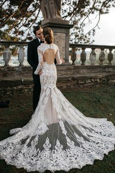 Romantic Tuscan Villa Wedding Dresses Sheer Crew Neck Long Sleeve Delicate Lace Keyhole Back Bridal Gowns sold by Babybridal . Shop more products from Babybridal on Storenvy, the home of independent small businesses all over the world. Ballroom Wedding Dresses, Floral Wedding Gown, Sheer Wedding Dress, Pink Wedding Dresses, Wedding Gowns, Whimsical Wedding, Elegant Wedding, Lace Wedding, Berta
