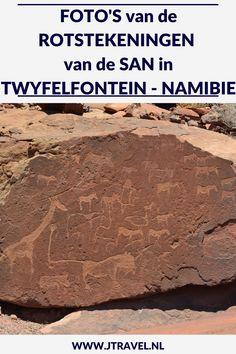 Tijdens mijn 22-daagse groepsrondreis door Namibië bezocht ik de Rotstekeningen van de San in Twyfelfontein. Hier zie je mijn foto's van de Rotstekeningen van de San. Kijk je mee? #San #bosjesmannen #namibie #rotstekeningen #fotos