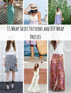 15 Wrap Skirt Patterns and DIY Wrap Dresses