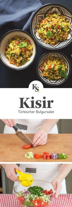 #kisir #bulgursalat #salate #sommerrezepte Rezept für einen leichten sommerlichen Kisir Salat, wie der türkische Bulgur Salat auch genannt wird. Passt perfekt auf jede Sommer- und Grillparty und ist schnell für viele Gäste zubereitet.