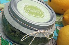 Pesto recipe + free printable label