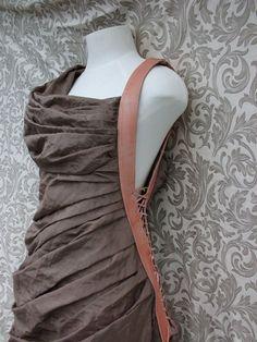 Warrior Tribal Silk Leather Dress by RonaMoon on Etsy, $200.00