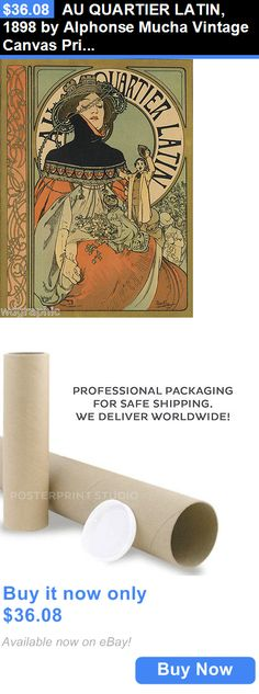 Arts And Crafts: Au Quartier Latin, 1898 By Alphonse Mucha Vintage Canvas Print 18X24 BUY IT NOW ONLY: $36.08