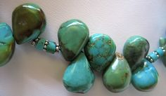 Turquoise necklace detail.