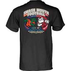 NCAA Georgia Bulldogs vs Florida Gators Smash Mouth Football Gameday Black T Shirt