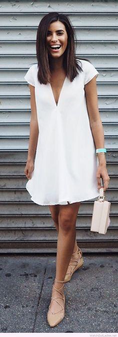 La parfaite petite robe blanche d'été ! http://amzn.to/2tOZjNt