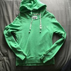Victoria secret pink hoodie Victoria's Secret pink green hoodie. Light weight. Very comfy. Size small PINK Victoria's Secret Tops Sweatshirts & Hoodies