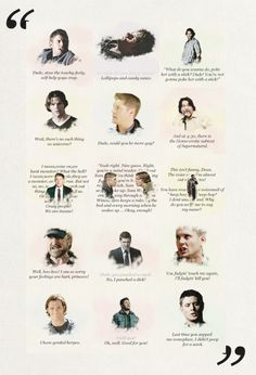 "Supernatural Quotes. Haha! Last one is my favorite!! ""Last time you zapped me somewhere, I didn't poop for a week."""