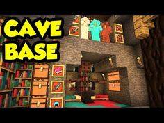 Minecraft CAVE House Survival Base Tutorial (How to Build) [Design Tour Ideas] Minecraft Cave House, Minecraft Houses Survival, Cool Minecraft Houses, Minecraft Crafts, Minecraft Buildings, Minecraft Stuff, Minecraft Things To Build, Minecraft Mansion, Minecraft Server