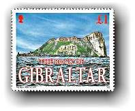 Gibraltar put their country's famous landmark on their stamps both figuratively and literally in 2002. The Rock of Gilbraltar, one of the most recognized natural landmarks in the world appeared on a 4-stamp set in 2002. The top layer of the stamp is embellished with finely pulverized pieces of geologic rock from the famous landmark.
