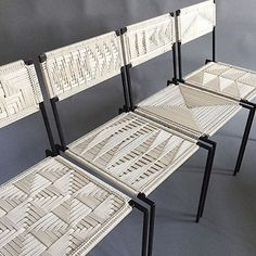 intricately woven chairs