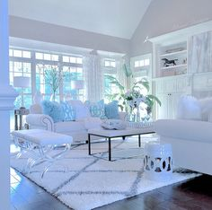 I wish I could report that today was as bright and sunny as this pic, that I yesterday, would suggest! Quite the contrary. Living Room Decor Cozy, Formal Living Rooms, Interior Design Living Room, Living Room Designs, Interior Modern, Glamour Living Room, White Rooms, Home And Living, House Design