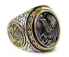anel tribal fénix e dragão em prata 925