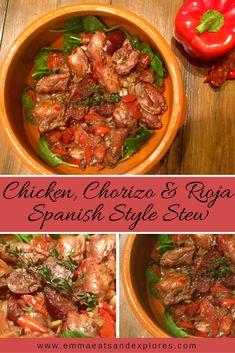 Chicken, Chorizo & Rioja, Spanish Style Stew by Emma Eats & Explores - Gluten-Free, Grain-Free, Dairy-Free, Sugar-Free, SCD & Paleo