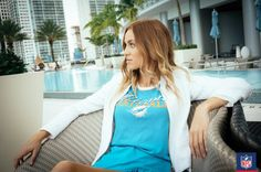 The easiest way to take your Miami Dolphins tee from day to night? Add a white blazer for a look that lasts all day. (via Majestic)