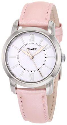 Timex Women's T2N684 Elevated Classics Dress Uptown Chic Pink Metallic Leather Strap Watch Timex http://www.amazon.com/dp/B004VRA58U/ref=cm_sw_r_pi_dp_k-eWtb0M7WDEY8Y4