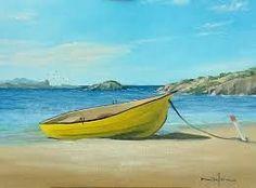 Resultado de imagem para boat oil painting