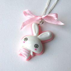 Kawaii bunny pendant. Cute!!! http://weheartit.com