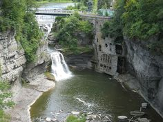 Falls Creek Gorge, Cornell University campus, Ithaca, New York.