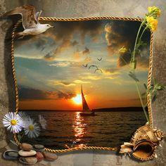 Boat at sunset/Gif