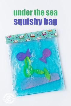 Enjoy no-mess sensory play with this easy, creative, and fun Under the Sea Squishy Bag for kids! It's perfect for little hands!