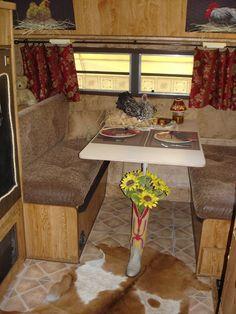 trailer with cute western decor...