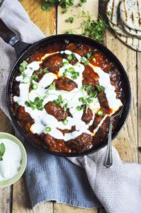 Nina Timms Meatballs in a rich Curry Yogurt Sauce