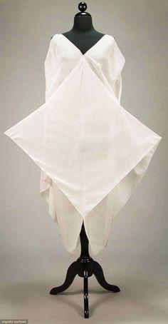 Dress (image 5) | Attributed to Madeleine Vionnet | France; Paris | 1920 | pique edged cotton voile | Augusta Auctions | April 20, 2016/lot 247
