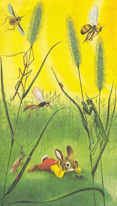 "Of my favourite childhood authors :) From ""I Am A Bunny"" by Ole Risom, illustrations by Richard Scarry Richard Scarry, Little Golden Books, Vintage Children's Books, Children's Book Illustration, Book Illustrations, Country Girls, Country Music, Childrens Books, Illustrators"