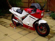 Sweet Suzuki two stroke too Gamma!  The ultimate collector sport bike