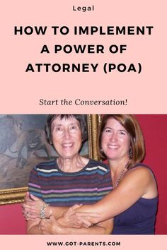 Do not wait until you are in the middle of experiencing your parent's cognitive or medical decline to implement a Power of Attorney. Funeral Planning Checklist, Retirement Planning, Retirement Strategies, Emergency Planning, Family Emergency Binder, Advance Directives, Last Will And Testament, Power Of Attorney, Aging Parents