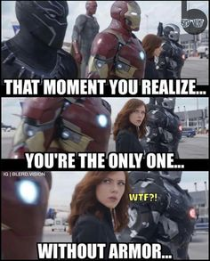 SHIT! She doesn't get a suit, what the fuck Stark!
