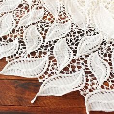 Bridal Lace Fabric, Embroidered Lace Fabric, Applique Fabric, Wedding Fabric, Flower Applique, Cotton Crochet, Cotton Lace, Fabric Headbands, White Leaf