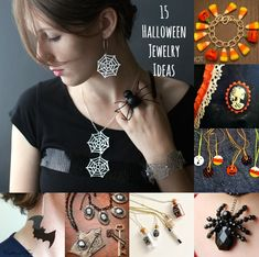 I love crafting for Halloween, and I especially love making Halloween jewelry! It's fun to make something glitzy and festive to wear.