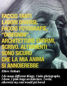 Ettore Sottsass, la creatività  http://www.paolomarangon.com/ettore-sottsass-la-creativita/