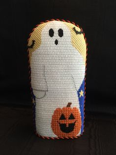 Ghost Stand-up ~needlepoint canvas by Kathy Schenkel