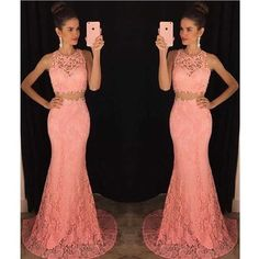 Two+piece+lace+mermaid+prom+dress,+Peach+long+prom+dresses,+Sexy+Lace+prom+dresses,+prom+dress+online,+2017+prom+dress The+sexy+two+pieces+mermaid+lace+prom+dresses+are+fully+lined,+8+bones+in+the+bodice,+chest+pad+in+the+bust,+lace+up+back+or+zipper+back+are+all+available,+total+126+colors+are+...