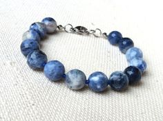 Sodalite Hand Knotted Bracelet Blue Bracelet with by CITBhandmade