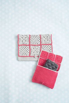 Ravelry: Vintage Granny Clutches pattern by Natasja King #crochet #clutch #pouch