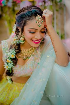 Gorgeous New Floral Braids That Are Perfect For The Mehendi Indian Wedding Planning, Wedding Planning Websites, Crown Images, Indian Bridal Hairstyles, Top Photographers, Floral Crown, Mehendi, Wedding Vendors, Wedding Planner