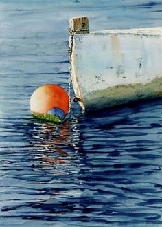 """Oh Buoy"" Watercolor - Colleen Nash Becht"