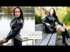 Herbstlook - Lederjacke, Lederstiefel und Business Kleid #leder #leather #leatherjacket