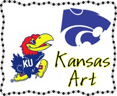 """Kansas day - If I have to acknowledge the """"Jayhawker"""" in Kansas history, I can handle it better putting a powercat beside it!!"""