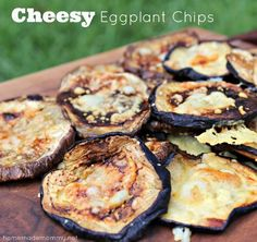 Cheesy Eggplant Chips